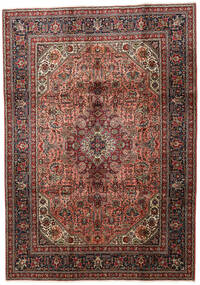 Tabriz Teppe 202X286 Ekte Orientalsk Håndknyttet Mørk Brun/Lysbrun (Ull, Persia/Iran)