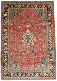 Sarough Teppe 208X297 Ekte Orientalsk Håndknyttet Mørk Rød/Rust (Ull, Persia/Iran)