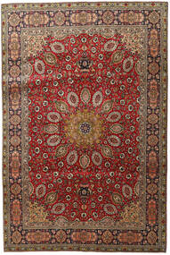 Tabriz Teppe 202X304 Ekte Orientalsk Håndknyttet Mørk Brun/Mørk Rød (Ull, Persia/Iran)