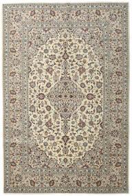 Keshan Teppe 198X296 Ekte Orientalsk Håndknyttet Lys Grå/Beige (Ull, Persia/Iran)