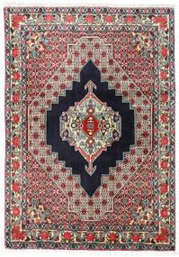 Senneh Teppe 123X172 Ekte Orientalsk Håndknyttet Svart/Mørk Beige (Ull, Persia/Iran)