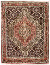 Senneh Teppe 123X158 Ekte Orientalsk Håndknyttet Mørk Brun/Lysbrun (Ull, Persia/Iran)