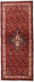 Asadabad Teppe 80X195 Ekte Orientalsk Håndknyttet Teppeløpere Mørk Rød/Mørk Brun (Ull, Persia/Iran)