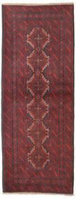 Beluch Teppe 80X205 Ekte Orientalsk Håndknyttet Teppeløpere Mørk Rød/Mørk Blå (Ull, Persia/Iran)