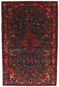 Nahavand Teppe 156X245 Ekte Orientalsk Håndknyttet Mørk Rød/Svart (Ull, Persia/Iran)