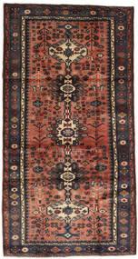 Hamadan Teppe 105X197 Ekte Orientalsk Håndknyttet Mørk Rød/Svart (Ull, Persia/Iran)