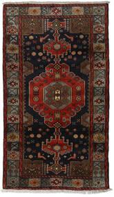Hamadan Teppe 106X188 Ekte Orientalsk Håndknyttet Mørk Brun/Mørk Rød (Ull, Persia/Iran)