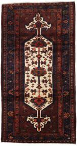 Hamadan Teppe 105X198 Ekte Orientalsk Håndknyttet Mørk Rød (Ull, Persia/Iran)