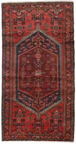 Hamadan Teppe 100X188 Ekte Orientalsk Håndknyttet Mørk Rød/Mørk Brun (Ull, Persia/Iran)