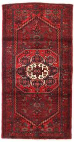 Hamadan Teppe 100X190 Ekte Orientalsk Håndknyttet Mørk Rød/Mørk Brun (Ull, Persia/Iran)