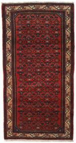 Asadabad Teppe 100X190 Ekte Orientalsk Håndknyttet Mørk Rød/Mørk Brun (Ull, Persia/Iran)