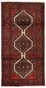 Hamadan Teppe 99X193 Ekte Orientalsk Håndknyttet Mørk Rød/Mørk Brun (Ull, Persia/Iran)