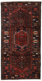 Hamadan Teppe 109X210 Ekte Orientalsk Håndknyttet Mørk Brun/Mørk Rød (Ull, Persia/Iran)