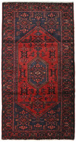 Hamadan Teppe 105X200 Ekte Orientalsk Håndknyttet Mørk Rød (Ull, Persia/Iran)