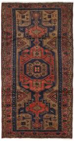 Hamadan Teppe 103X193 Ekte Orientalsk Håndknyttet Svart/Mørk Rød (Ull, Persia/Iran)