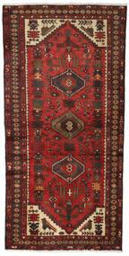 Hamadan Teppe 96X186 Ekte Orientalsk Håndknyttet Mørk Rød/Mørk Brun (Ull, Persia/Iran)