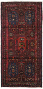 Hamadan Teppe 108X219 Ekte Orientalsk Håndknyttet Mørk Rød (Ull, Persia/Iran)