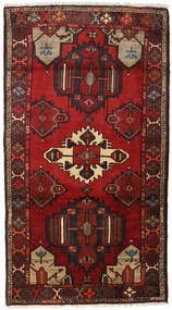 Hamadan Teppe 98X176 Ekte Orientalsk Håndknyttet Mørk Rød/Mørk Brun (Ull, Persia/Iran)