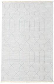 Bamboo Silke Handloom Teppe 160X230 Ekte Moderne Håndknyttet Beige/Lys Grå/Hvit/Creme ( India)