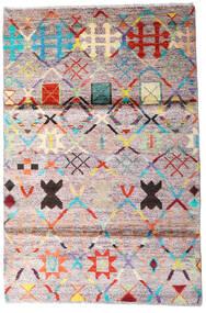 Moroccan Berber - Afghanistan Teppe 119X177 Ekte Moderne Håndknyttet Beige/Mørk Grå (Ull, Afghanistan)