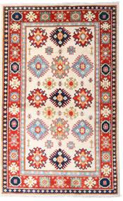 Kazak Teppe 93X152 Ekte Orientalsk Håndknyttet Beige/Lyserosa (Ull, Afghanistan)