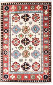 Kazak Teppe 94X149 Ekte Orientalsk Håndknyttet Beige/Lys Grå (Ull, Afghanistan)