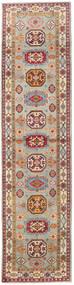 Kazak Teppe 86X349 Ekte Orientalsk Håndknyttet Teppeløpere Lysbrun/Lys Grå (Ull, Afghanistan)