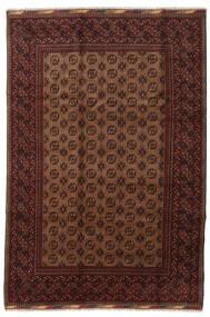 Afghan Teppe 201X294 Ekte Orientalsk Håndknyttet Mørk Rød/Brun (Ull, Afghanistan)