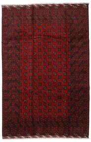 Afghan Teppe 201X298 Ekte Orientalsk Håndknyttet Mørk Rød (Ull, Afghanistan)