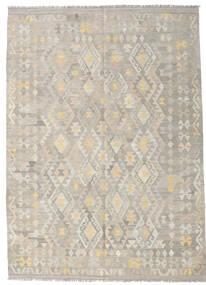 Kelim Afghan Old Style Teppe 175X243 Ekte Orientalsk Håndvevd Lys Grå (Ull, Afghanistan)