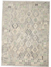 Kelim Afghan Old Style Teppe 207X280 Ekte Orientalsk Håndvevd Lys Grå (Ull, Afghanistan)