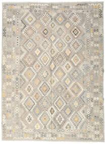 Kelim Afghan Old Style Teppe 251X339 Ekte Orientalsk Håndvevd Lys Grå/Mørk Beige Stort (Ull, Afghanistan)