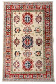 Kazak Teppe 92X144 Ekte Orientalsk Håndknyttet Mørk Rød/Beige (Ull, Afghanistan)