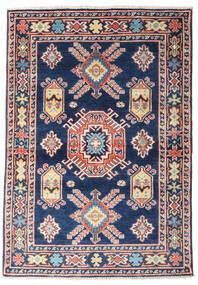 Kazak Teppe 97X139 Ekte Orientalsk Håndknyttet Mørk Blå/Lyserosa (Ull, Afghanistan)