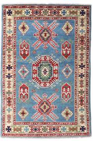 Kazak Teppe 97X146 Ekte Orientalsk Håndknyttet Mørk Grå/Mørk Rød (Ull, Afghanistan)