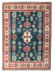 Kazak Teppe 86X119 Ekte Orientalsk Håndknyttet Mørk Blå/Hvit/Creme (Ull, Afghanistan)
