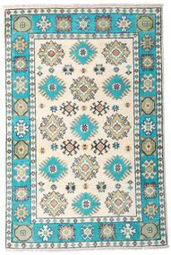 Kazak Teppe 81X125 Ekte Orientalsk Håndknyttet Beige/Mørk Grå (Ull, Afghanistan)