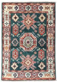 Kazak Teppe 87X126 Ekte Orientalsk Håndknyttet Blå/Beige (Ull, Afghanistan)