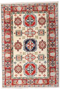 Kazak Teppe 81X119 Ekte Orientalsk Håndknyttet Beige/Lys Grå (Ull, Afghanistan)