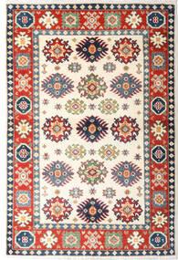 Kazak Teppe 82X124 Ekte Orientalsk Håndknyttet Beige/Mørk Grå (Ull, Afghanistan)