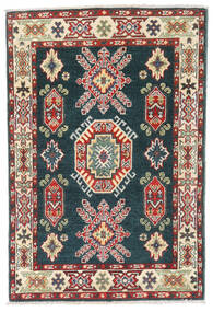 Kazak Teppe 81X121 Ekte Orientalsk Håndknyttet Mørk Grå/Lysbrun (Ull, Afghanistan)