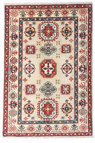 Kazak Teppe 81X121 Ekte Orientalsk Håndknyttet Beige/Mørk Rød (Ull, Afghanistan)