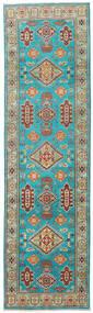 Kazak Teppe 82X291 Ekte Orientalsk Håndknyttet Teppeløpere Turkis Blå/Lysgrønn (Ull, Pakistan)