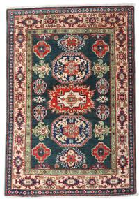 Kazak Teppe 80X117 Ekte Orientalsk Håndknyttet Mørk Blå/Mørk Rød (Ull, Afghanistan)