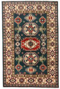 Kazak Teppe 120X184 Ekte Orientalsk Håndknyttet Mørk Blå/Mørk Rød (Ull, Afghanistan)
