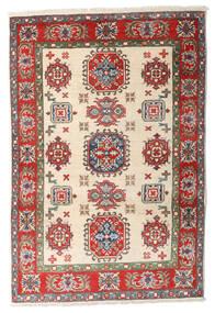 Kazak Teppe 84X125 Ekte Orientalsk Håndknyttet Beige/Mørk Brun (Ull, Afghanistan)
