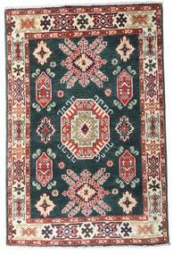 Kazak Teppe 83X126 Ekte Orientalsk Håndknyttet Blå/Beige (Ull, Afghanistan)