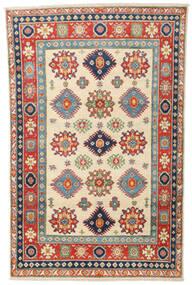 Kazak Teppe 119X187 Ekte Orientalsk Håndknyttet Beige/Mørk Grå (Ull, Afghanistan)