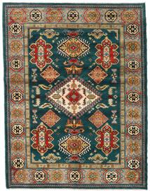 Kazak Teppe 155X203 Ekte Orientalsk Håndknyttet Mørk Grønn/Mørk Blå (Ull, Afghanistan)