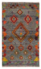 Moroccan Berber - Afghanistan Teppe 85X144 Ekte Moderne Håndknyttet Lys Grå (Ull, Afghanistan)